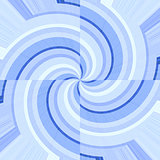 Blue curves forming spirals
