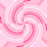 Pink curves forming spirals