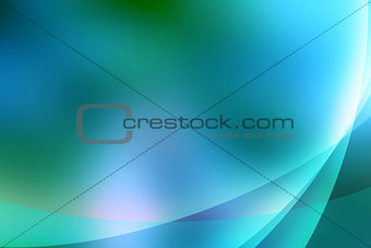 Abstract turquoise lines