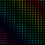 Multicolored dots forming lines