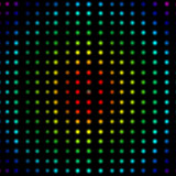 Multicolored dots placed in lines