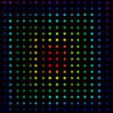 Multicolored dots forming squares