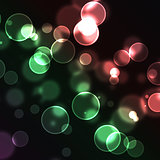 Red and green bubbles