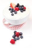 Tape measure and berries cream