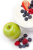 Berries cream and apple
