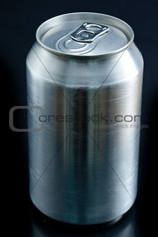 Close up of an aluminium closed can