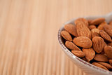 Roasted almonds in a bowl