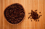Coffee seeds in a basket