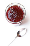 Jar of jam and spoon