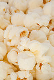Close up on blurred pop corn