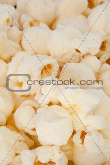 Close up on blurred pop corn
