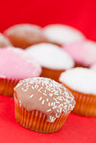 Muffins with icing sugar