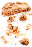 Half eaten blurred cookie