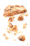 Close up of an half eaten cookie