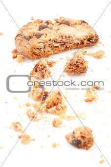 Close up of an half eaten cookie