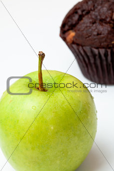 Apple and muffin
