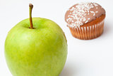 Apple and cupcake