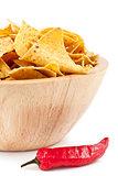 Pimento near to a bowl of crisps