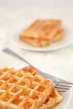 Two plateful with waffles