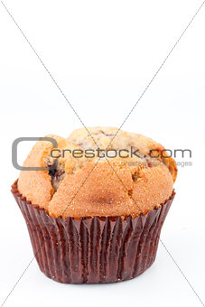 Close up of a baked muffin