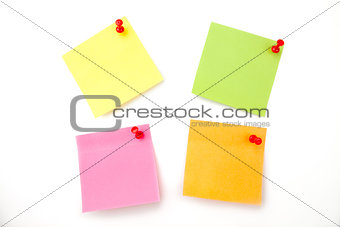 Four pined adhesive notes
