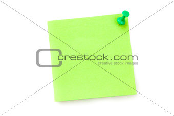 Green adhesive note