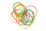 Large group of muti coloured elastics