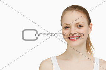 Smiling blonde-haired woman