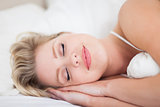 Woman smiling while she is resting