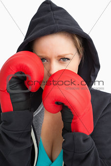 Pretty woman boxing