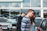 People buying a car