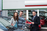 Customers buying a car