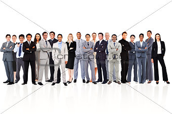 Business people standing up