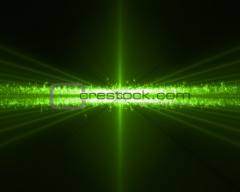Background of green bundles