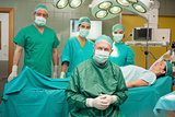 Surgical team around a patient