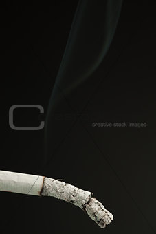 Ash of cigarette