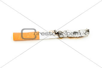 Close up of a cigarette extinguisched