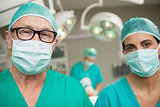 Surgeons standing up