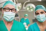Surgeons standing up