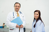 Patient and doctor together