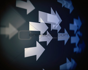 Background of multiple arrows