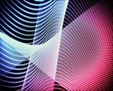Volute of blue and pink lines