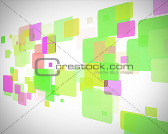 Green and purple rectangles moving