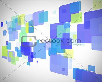 Green and blue rectangles moving