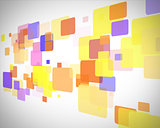 Yellow and blue rectangles moving