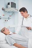 Doctor speaking to his patient