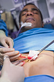 Close up of a patient having a surgery