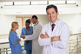 Doctor next to medical team