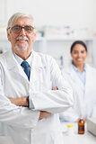 Male pharmacist looking at camera