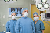 Front view of medical team